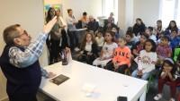 Necati Tosuner, Ahmet Telli Çocuk ve Halk Kütüphanesi'ne Konuk Oldu