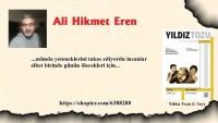 """Ali Hikmet Eren, """"volatilite"""" Şiiriyle Yıldız Tozu Dergisinin 6. Sayısında…"""