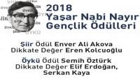 2018 Yaşar Nabi Nayır Gençlik Ödülleri