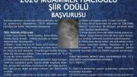 2020 Muammer Hacıoğlu   Şiir Ödülü   Başvurusu